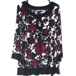 Cato Woman Floral Bell Sleeve Blouse 18/20W